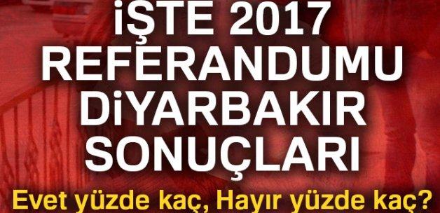 Son Dakika: Diyarbakır referandum sonuçları 2017! Diyarbakır oy sonuçları   Evet hayır oranı öğren