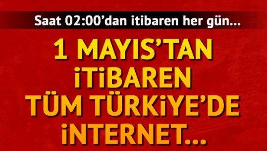Tüm Türkiye'de internette yeni dönem başlıyor! 1 Mayıs itibariyle saat 02:00'de bakın ne olacak?
