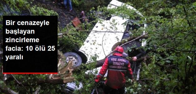 Zonguldak'ta Trafik Faciası: 10 Ölü 25 Yaralı