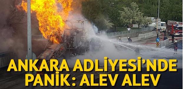 Ankara adliyesinde doğalgaz patlaması