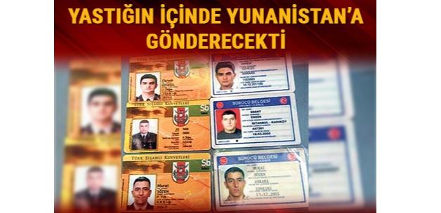 Atatürk Havalimanı'nda Atina'ya gönderilmek istenen yastığın içinden 3 FETÖ'cünün kimliği çıktı
