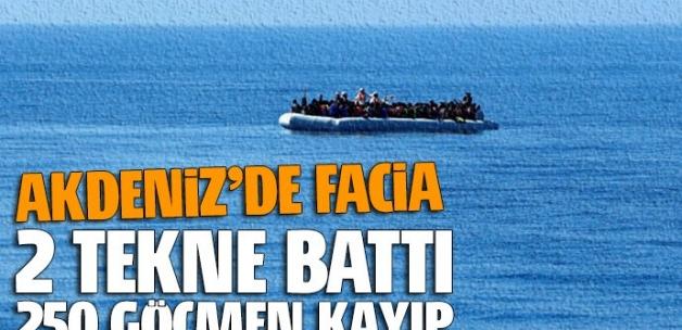 Bir facia daha! İki tekne battı, 250 göçmen kayıp