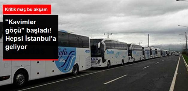 Erzurumsporlu Binlerce Taraftar Bugünkü Maç İçin İstanbul'a Geliyor