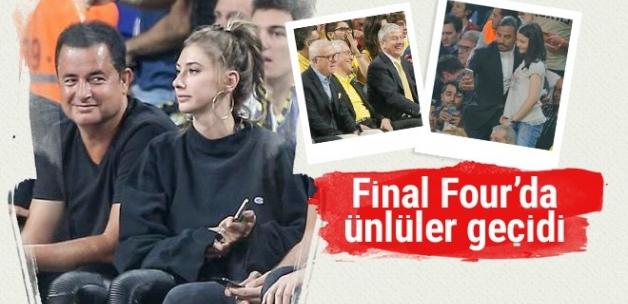 Final Four'a ünlüler akın etti! Kimler yoktu ki..