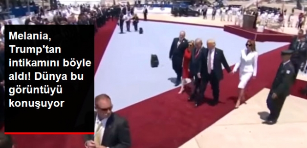 First Lady Melania, İsrail Ziyaretinde Elini Tutmaya Çalışan Trump'a Sert Tepki Gösterdi