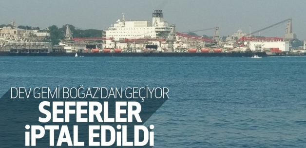İstanbul Boğazında seferler durdu