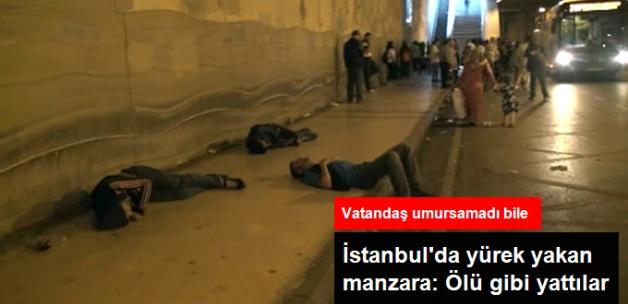 İstanbul'da Yürekleri Sızlatan Manzara: Uyuşturucu Çeken Gençler Ölü Gibi Yattı