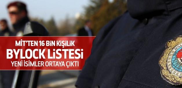 MİT'ten 16 bin kişilik ByLock listesi