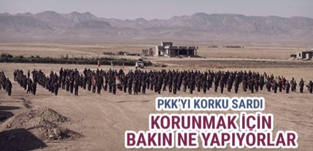 PKK Türk uçaklarından korunmak için tünel kazıyor