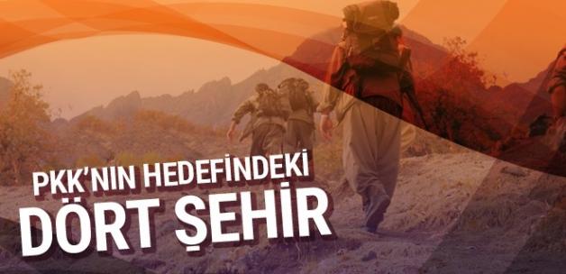 PKK'nın hedefindeki 4 Karadeniz şehri!