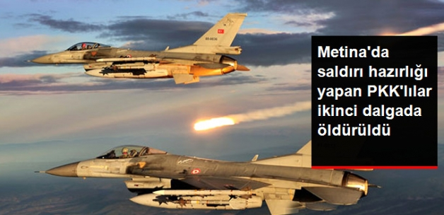 PKK'nın Metina Kampındaki Teröristler Hava Harekatıyla Vuruldu