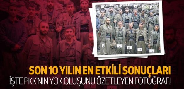 PKK'nın yok oluşunun fotoğrafı