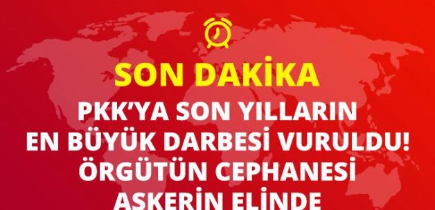 PKK'ya Son Yılların En Büyük Darbesi Vuruldu! Örgütün Cephanesi Ele Geçirildi