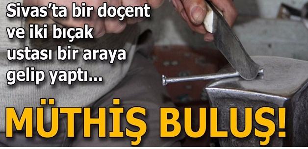Sivas'ta müthiş buluş! Bıçakla çiviyi kesmeyi başardılar...