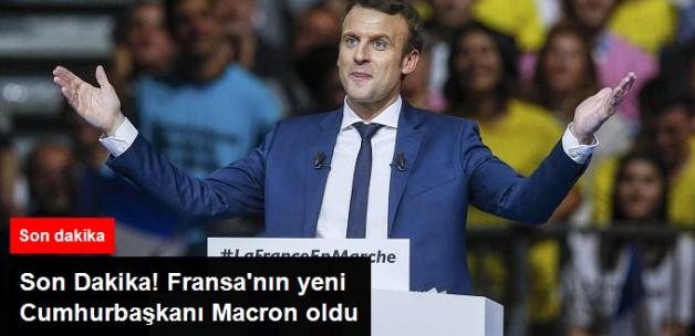 Son Dakika! Fransa'nın Yeni Cumhurbaşkanı Macron Oldu