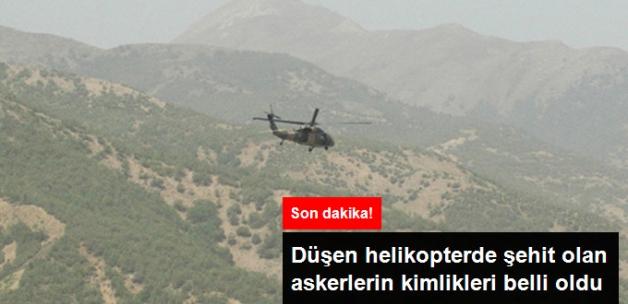 Son dakika! Şırnak'ta Düşen Helikopterde Şehit Olan Askerlerin Kimlikleri Belli Oldu