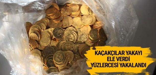Tarihi eser operasyonunda yüzlerce altın sikke yakalandı!