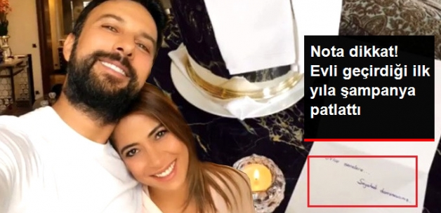 Tarkan Evlilik Hayatında Geride Bıraktığı Bir Yılı Şampanyayla Kutladı