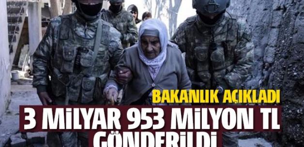 Terörden zarar görenlere 3 milyar 953 milyon TL ödendi