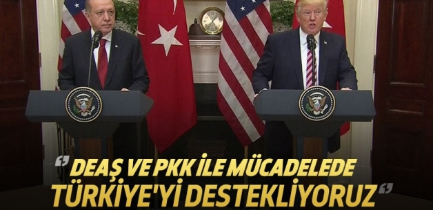 Trump: Türkiye'yi terörle mücadelede destekliyoruz