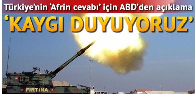 ABD'den Türkiye'nin Afrin cevabı için açıklama
