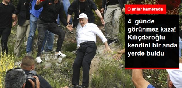 """""""Adalet Yürüyüşü""""nün 4. Gününde Görünmez Kaza! Kılıçdaroğlu Böyle Düştü"""
