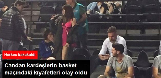 Basket Maçında Nihal-Bahar Candan Kardeşlerin Giydikleri Kıyafet İNANILMAZ DI