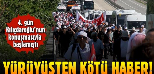 CHP'nin yürüyüşünde bir kişi hastaneye kaldırıldı!