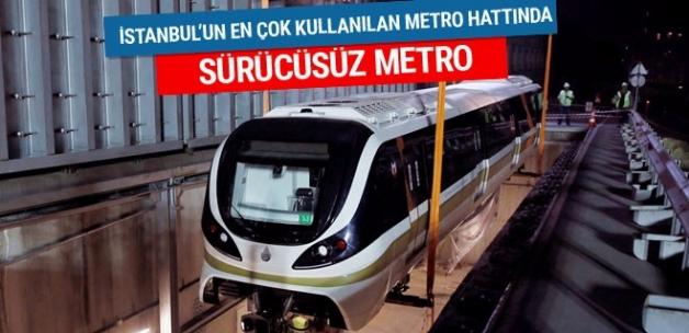İstanbul'da Hacıosman-Yenikapı metrosunda sürücüsüz araçlar raylarda