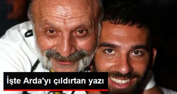 İşte Arda Turan'ın, Bilal Meşe'ye Saldırmasına Neden Olan Yazı