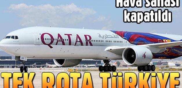 Katar tescilli uçaklar için tek çıkış Türkiye
