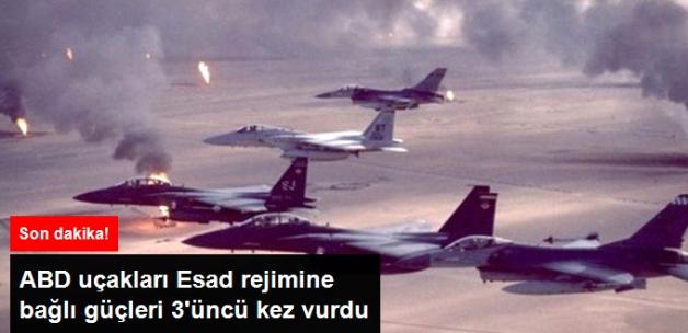 Koalisyon Uçakları Esad Rejimine Bağlı Birlikleri Üçüncü Kez Vurdu