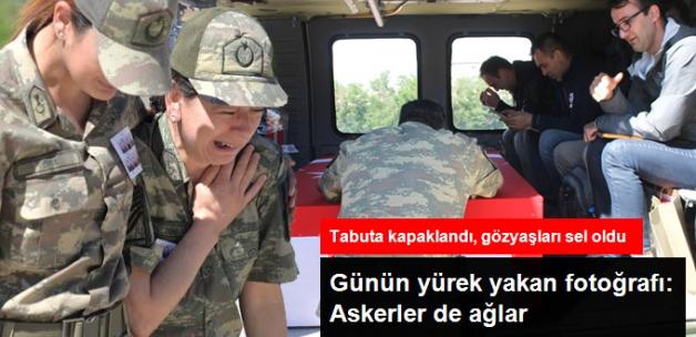 Şehitleri Silah Arkadaşları Uğurladı, Gözyaşları Sel Oldu