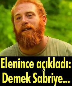 Survivor'dan elenen Furkan: Demek ki Sabriye...