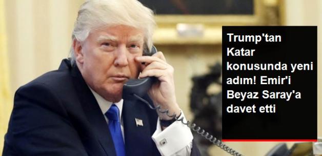 Trump, Katar Emiri'ni Beyaz Saray'a Davet Etti