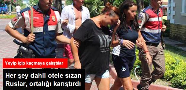 Her Şey Dahil Otele Kaçak Giren Rus Turistler, Yeyip İçtikten Sonra Kaçarken Yakalandı