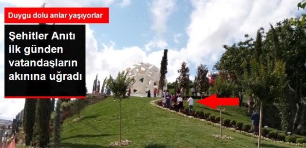 Şehitler Anıtı'na Vatandaşlardan Büyük İlgi