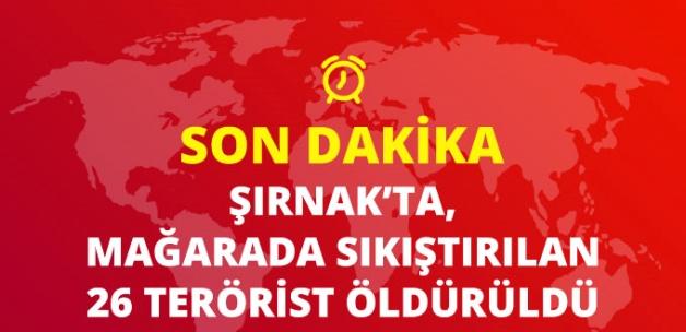 Şırnak'ta Çıkan Çatışmada 26 PKK'lı Terörist Öldürüldü