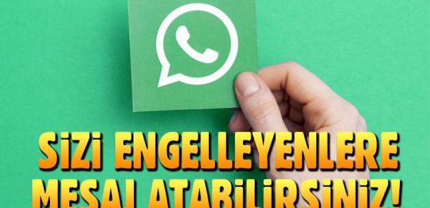 WhatsApp'ta engelleyen kişilere nasıl mesaj atılır?