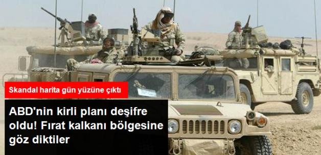 ABD'nin Skandal Suriye Haritasında Ülkenin Kuzeyi PKK'lı Teröristlere Verildi