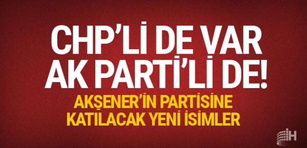 Akşener'in partisi için adı geçenler CHP'li de var eski AK Partili de!