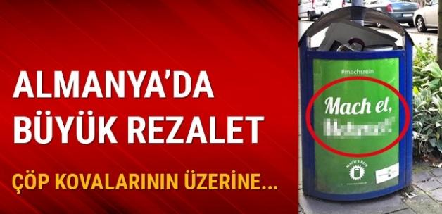 Almanya'da çöp kovalarının üzerine yazılan Türkçe isimler büyük tepki çekti