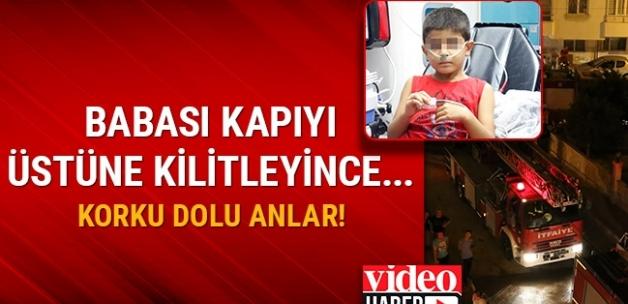 Antalya'da evde yalnız bırakılan çocuk oyuncakla evi yaktı