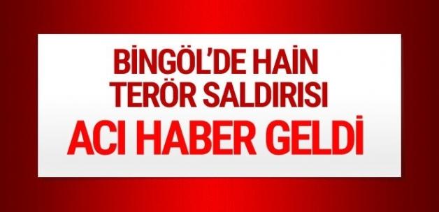 Bingöl'deki hain saldırıdan şehit haberi geldi