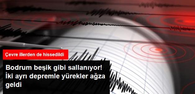 Bodrum'da 4.8 ve 4.1 Büyüklüğünde İki Ayrı Deprem Meydana Geldi