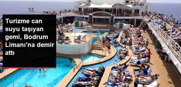 Çoğu Alman 2 Bin Turisti Taşıyan Gemi, Bodrum Limanına Demir Attı