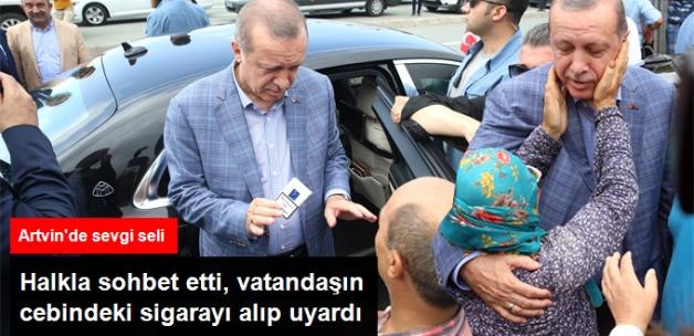 Cumhurbaşkanı Erdoğan'a Artvin'de Sevgi Seli