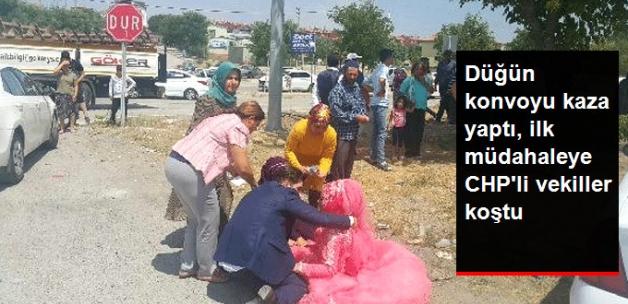 Düğün Konvoyu Kaza Yaptı, İlk Müdahale CHP'li Vekillerden Geldi