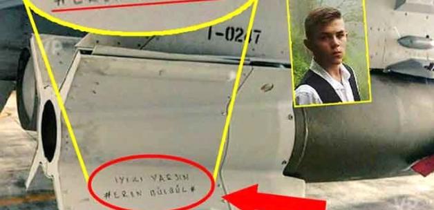 """F-16'lar 5 Teröristi Üzerinde """"İyi ki Varsın Eren Bülbül"""" Yazan Füzelerle Vurdu"""