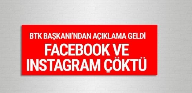 Facebook ve Instagram çöktü! BTK Başkanı'ndan açıklama geldi